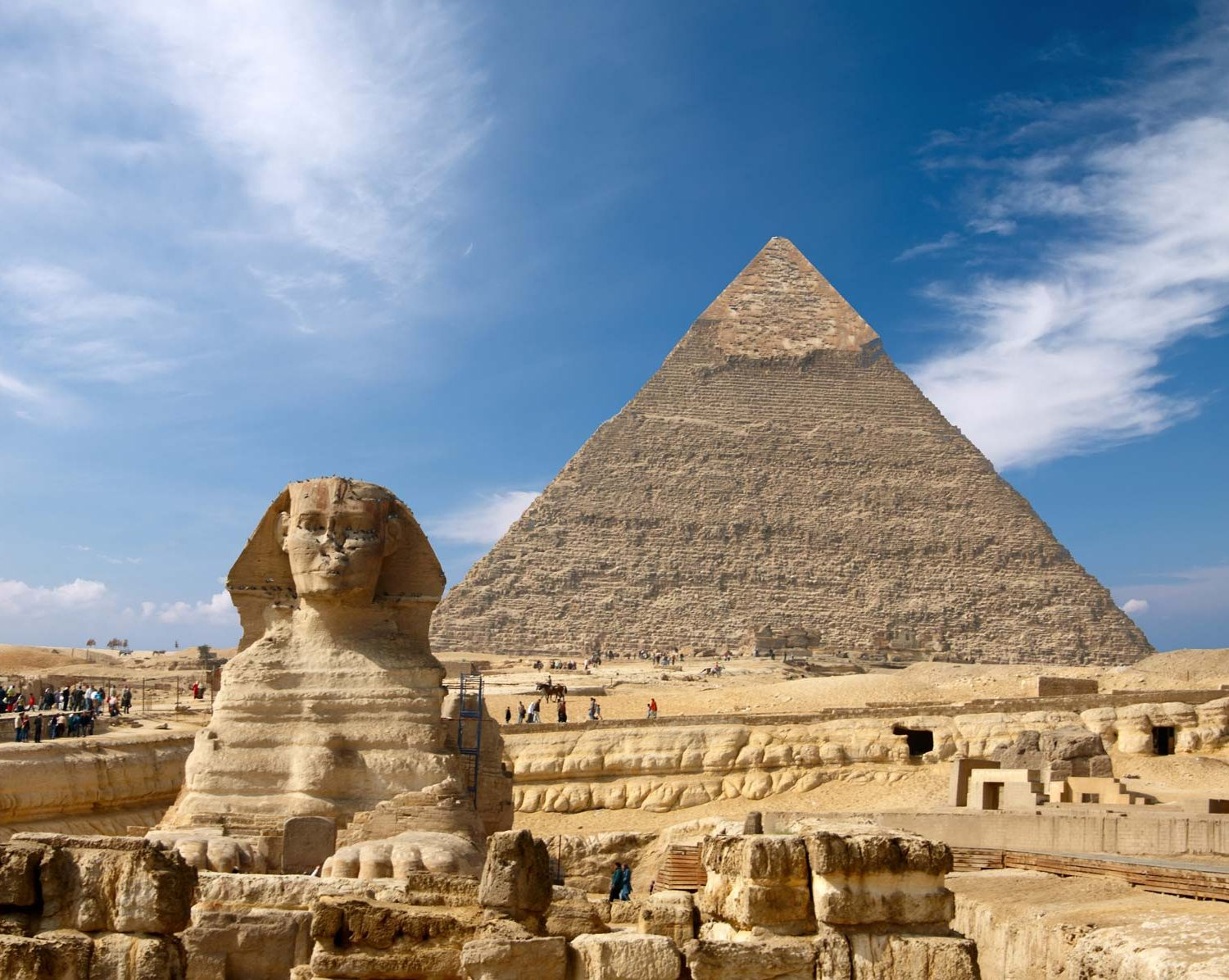 Great-Sphinx-of-Giza-pyramid-background-Khafre | merveilleuse egypte